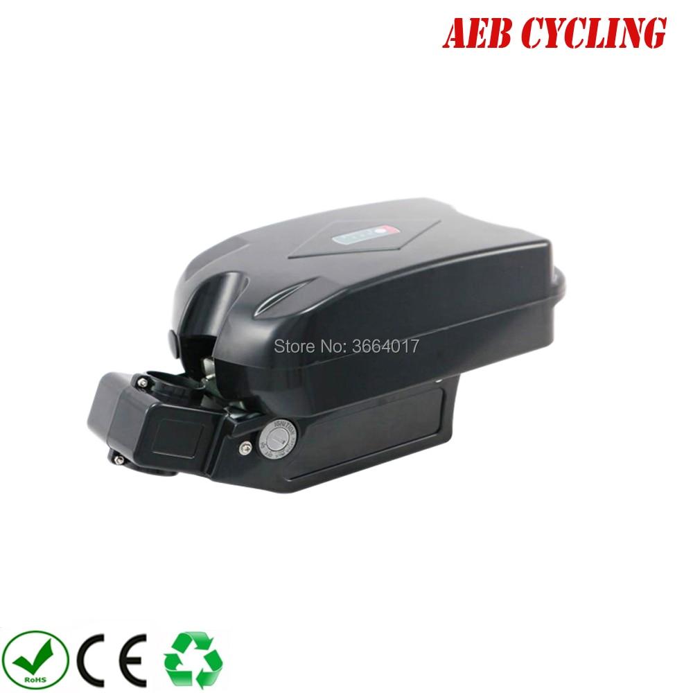 Ebike Li-ion 36V 10Ah little f rog seat tube battery for fat tire bike city bike with charger цена