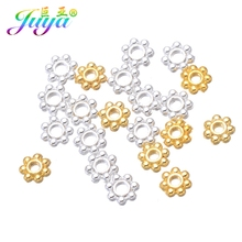 4mm Metal Spacers Gold/Silver Color Snowflake Spacer Beads For Women Men Beadwork Jewelry Bracelet Necklace Earring Making