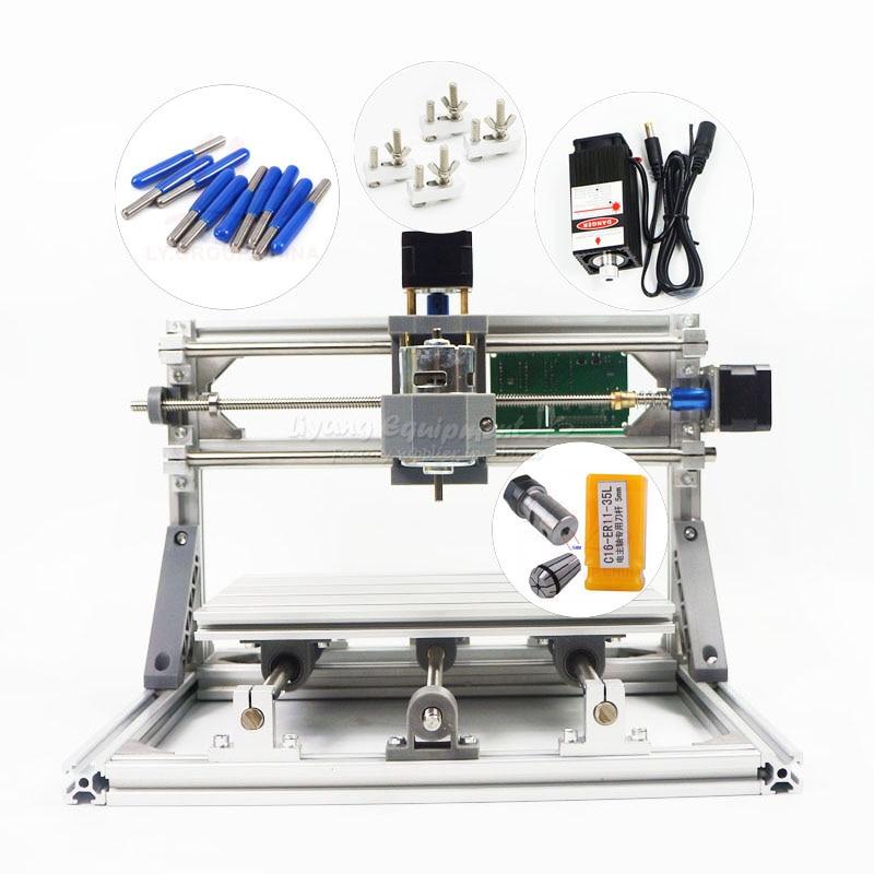 Démonté Pack Mini CNC 2418 PRO 5500 mw Laser CNC Machine De Gravure Pcb Fraiseuse Sculpture Sur Bois Machine