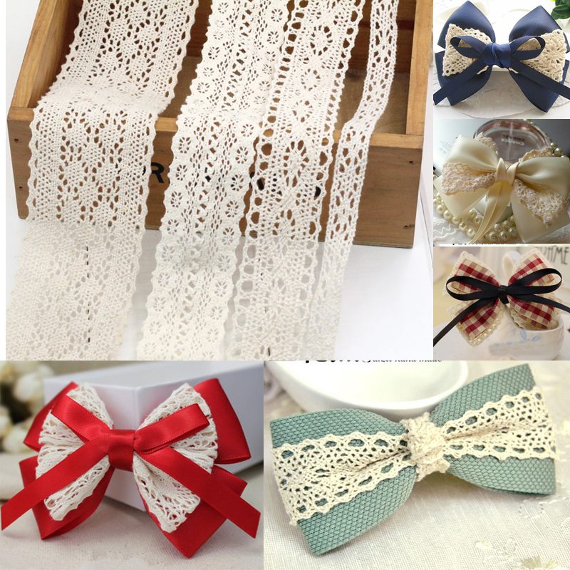 Painstaking 1 Meter/lot Beautiful Lace Ribbon Tape Lace Trim Fabric Diy Embroidered White Lace Trimmings For Sewing Accessories Decoration Lustrous Surface Home & Garden Apparel Sewing & Fabric