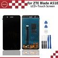 Para zte blade a510 display lcd original + montagem da tela de toque perfeito parte de reparo 5.0 acessórios para celular shipp livre + ferramentas