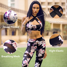 Vutru Women Sports Set for Fitness Yoga Running Gym Sports Bras & Pants High Stretch Yoga suits Quick Dry