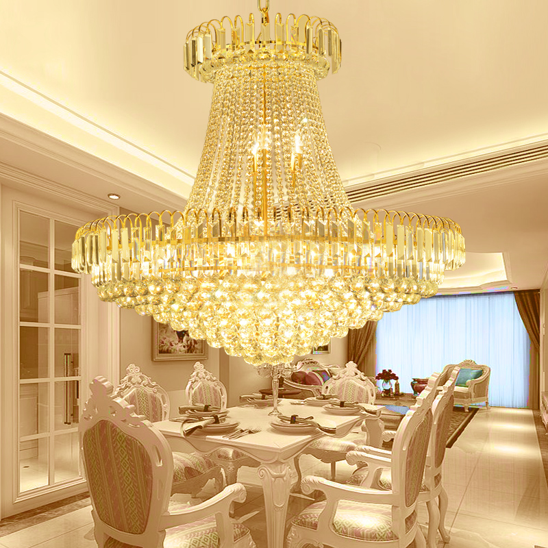 Modern simplere restaurant lamp Gold Led lustre chandelier Crystal ...