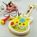 Música eletrônica Guitarra Instrumento Musical de Brinquedo de Plástico Educacional Interessante