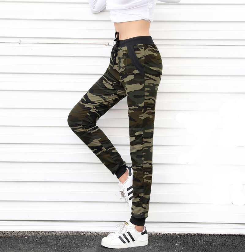 2018 New arrival Women sweatpant Camouflage Jogger Pant Harem Loose Long Pant With pocket Drawstring Loose American Original