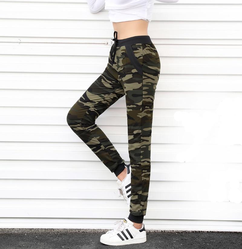 2018 New arrival Women sweatpant Camouflage Jogger Pant Harem Loose Long Pant With pocket Drawstring Loose American Original