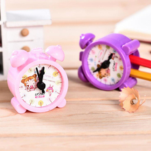 Novel cartoon double hole alarm clock pencil sharpener Offic