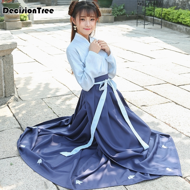 2019 summer hanfu national costume ancient chinese cosplay chinese hanfu women chinese folk dance clothes lady stage dress hanfu