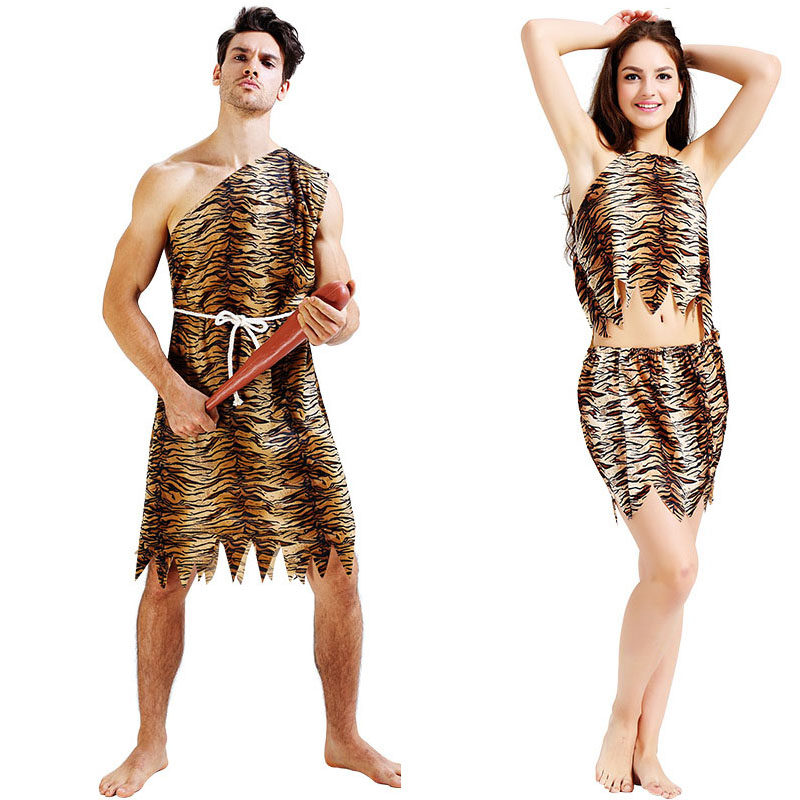 Couple Men Women Original Indian Savage Costume Wild Men -5861