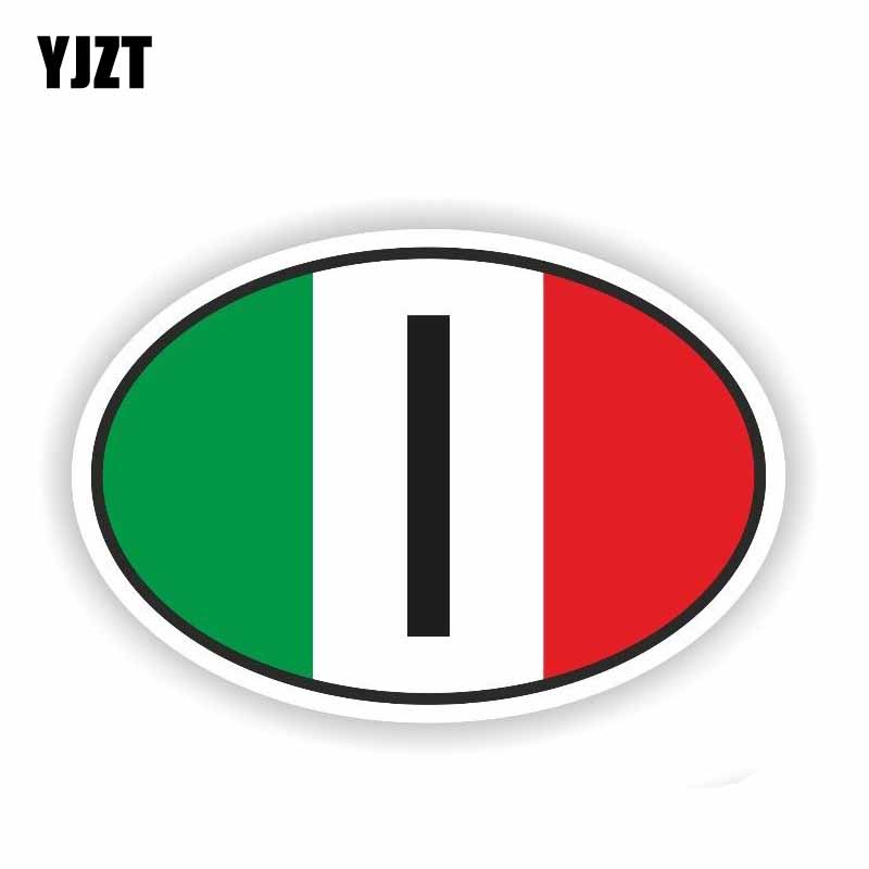 YJZT 15.1CM*10.1CM Car Accessories Italy Flag Country Code Reflective Car Sticker Decal PVC 6-0258