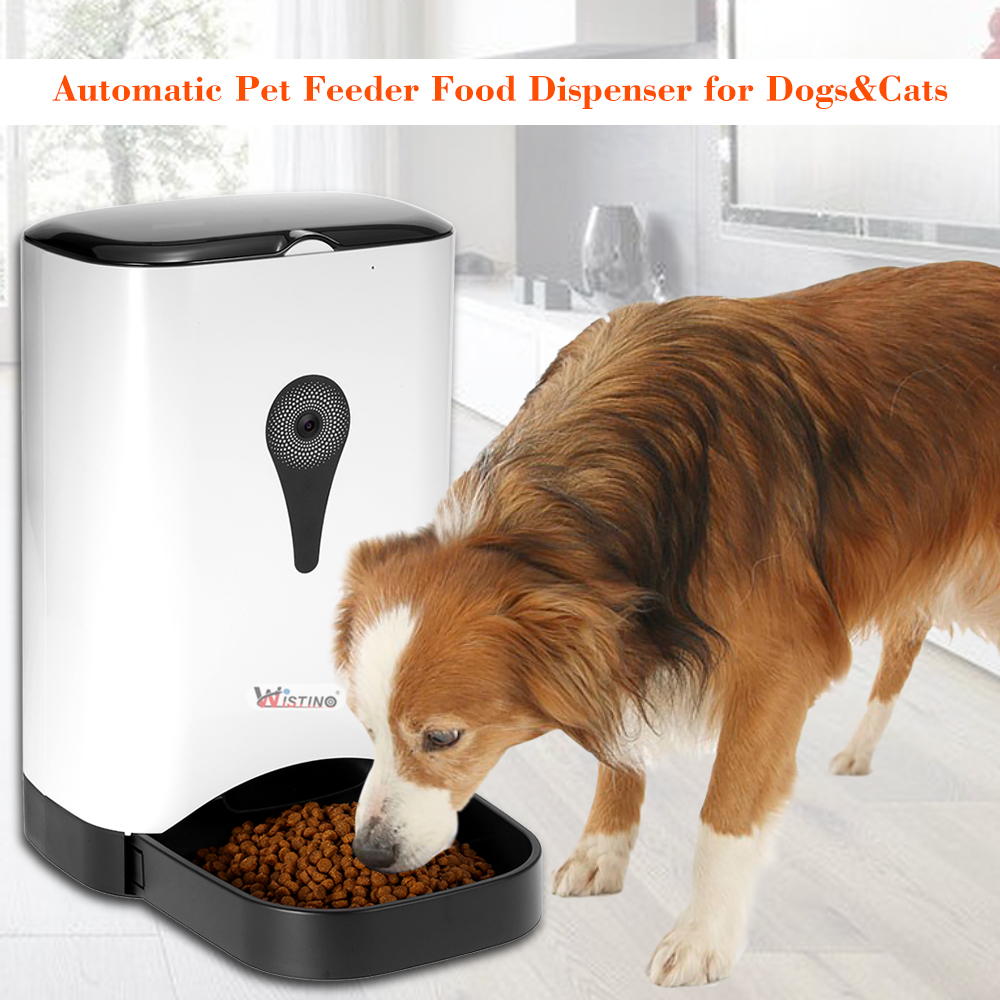 food feed wistino pet feeders recording for dogs dog camera automatic feeder dispenser cat item wifi with