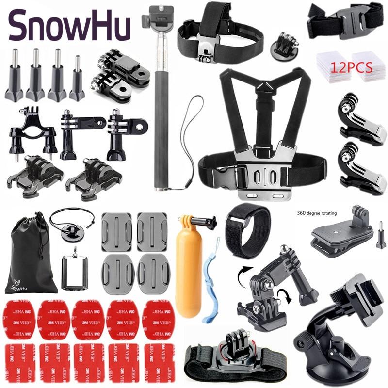 SnowHu para accesorios Gopro set trípode Monopod para go pro hero 7 - Cámara y foto