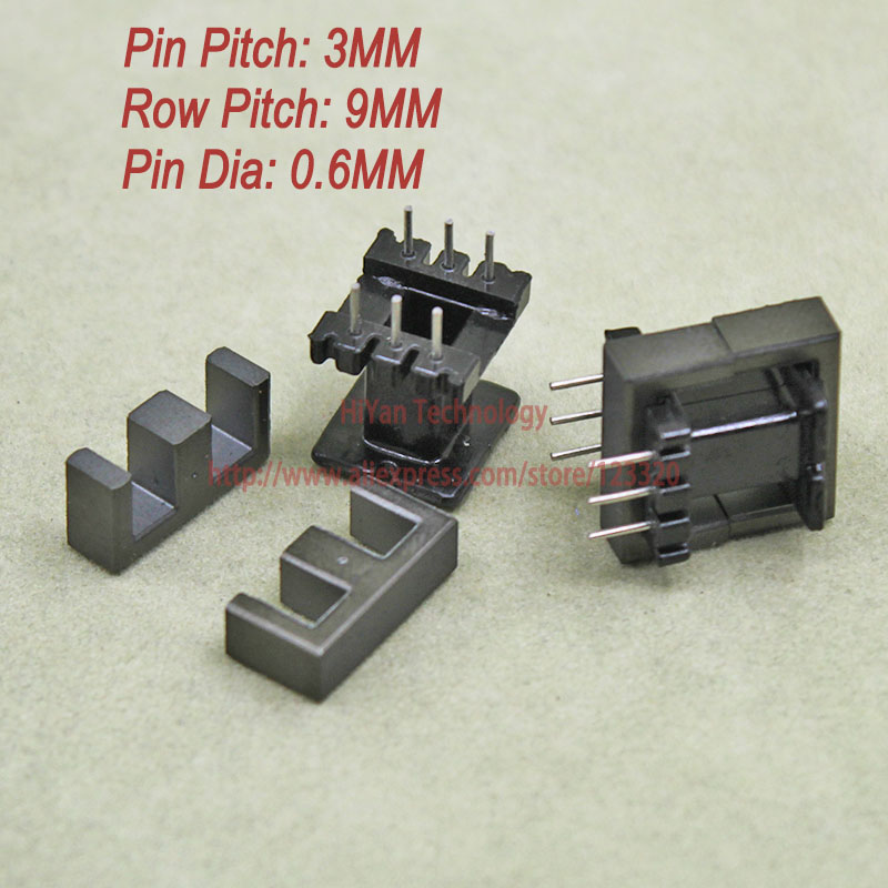 20sets/lot EE16 PC40 Ferrite Magnetic Core and 3 Pins + 3 Pins Top Entry Plastic Bobbin Customize Voltage Transformer 20sets lot ee16 pc40 ferrite magnetic core and 5 pins 5 pins side entry plastic bobbin customize voltage transformer