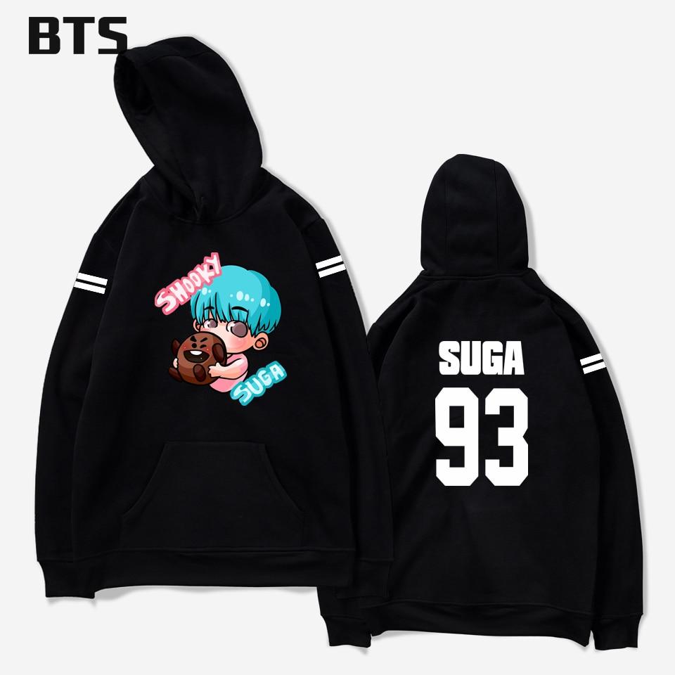 BTS Hoodies Frauen/Männer Hoodies Sweatshirts Schöne Mode Hoodies Druck Herbst/Winter Fans Beliebte Sweatshirt Hoodies Plus Größe