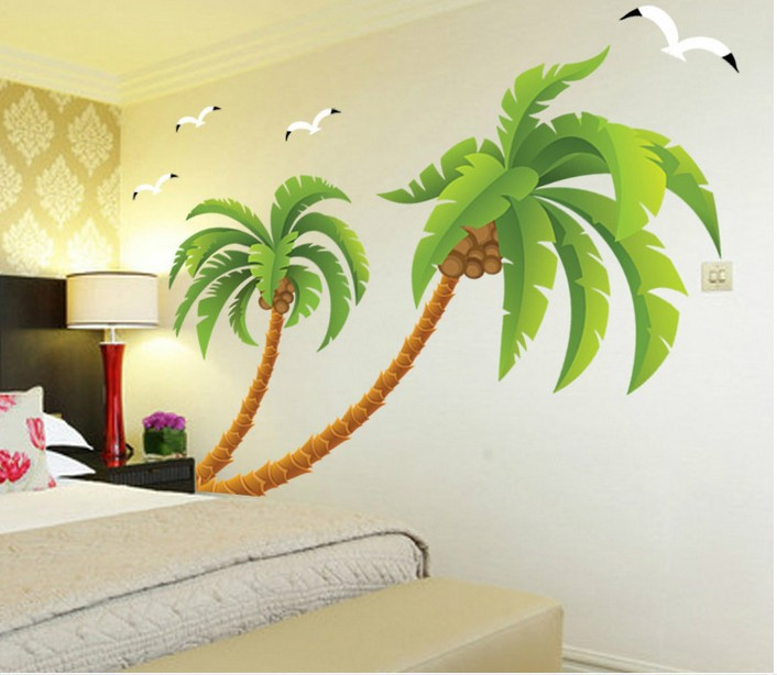 online shop coconut tree wall sticker summer sea gull wall  online shop coconut tree wall sticker summer sea gull wall covering kindergarten wall decor children room decoration aliexpress mobile