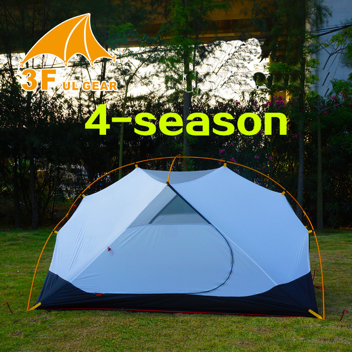 3F ul Gear 4 Season 2 Person Tent Vents Ultralight Camping Tent Body For MRS Hubba Inner Tent 995g camping inner tent ultralight 3 4 person outdoor 20d nylon sides silicon coating rodless pyramid large tent campin 3 season