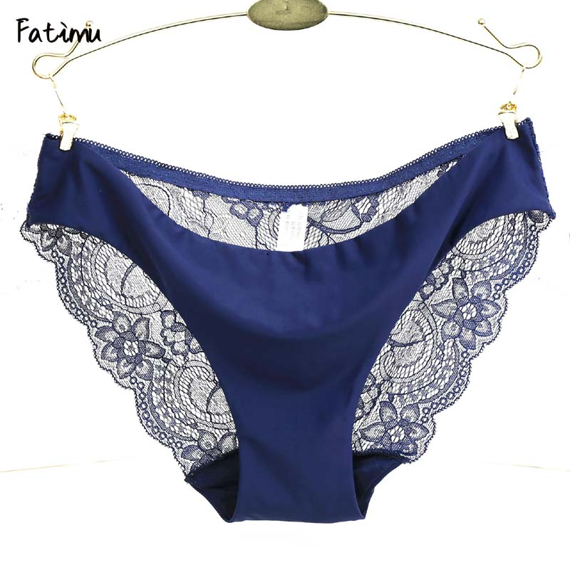 Fatimu Original New Ultra-thin Women Seamless Traceless Sexy Underwear Women Panties Briefs Leopard Lace Panties Plus Size S-XXL