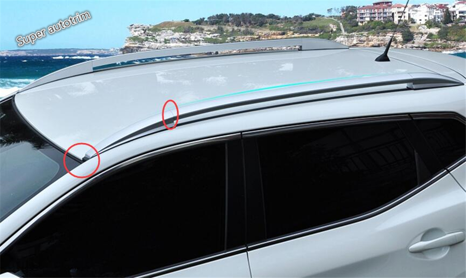 Exterior ! Silver Roof Rack Side Rails Bars Luggage Carrier A Set For Nissan Qashqai J11 2014 2015 2016 / Accessories silver top roof rack rails luggage carrier bars for honda crv 2012 2013 2014 2015