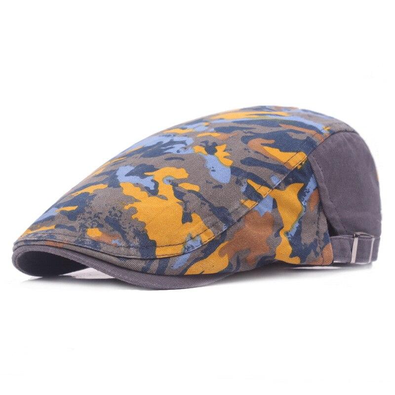 Adult Unisex Beret Adjustable camouflage Caps Duckbill Newsboy Hat for Men Woman S-206