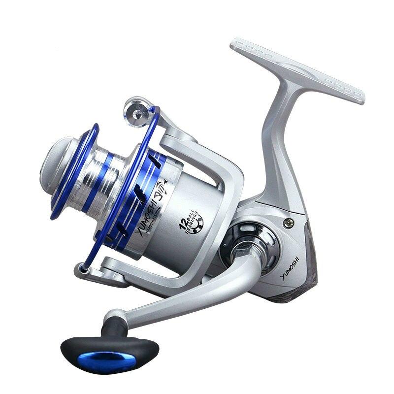 Venta caliente 12BB cojinete de impresión de alta resistencia ruedas todo Metal plegable balancín copa de alambre 7000-1000 carrete de pesca