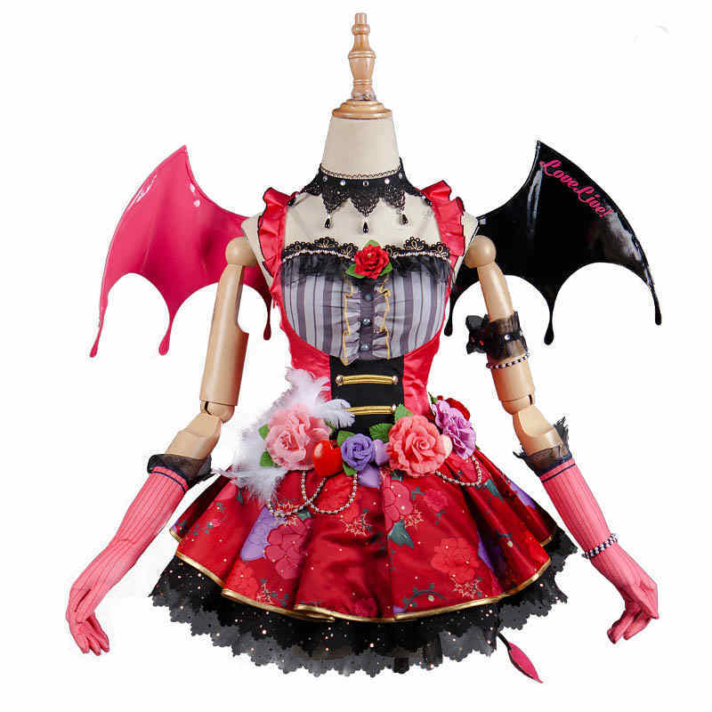 Nishikino Maki Cosplay Love Live! Lovelive School Idol Project Awakening Idolized Koakuma Devil Demon Costume