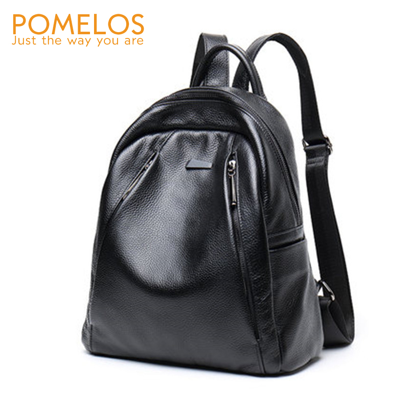 POMELOS Genuine Leather Backpack Women 2018 New Arrival Fashion Women Backpacks Anti Theft Backpack School Bag For Teenage Girls chu jj new arrival genuine leather women backpacks fashion backpacks for girls casual travel women school bag