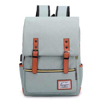 J&Q 2019 New Fashion College Style Bookbag Schoolbag USB Recharge Portable Backpack School Bags for Teenage Girls Bag Backpack
