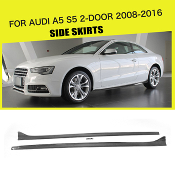 Carbon Fiber / FRP Side Skirts Extension for Audi A5 / A5 S Line / S5 Coupe 2 Door Convertible 2008-2016 Car Styling