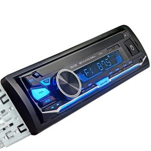 Image 4 - HEVXM 7003 Kleur Licht MP3 Speler Radio Auto MP3 Speler 12 v BT Auto Stereo Audio In dash Enkele 1 Din Aux Input