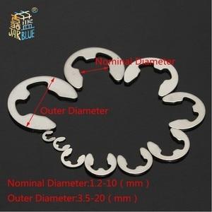 Image 3 - 120/200 PCS 304 Stainless Steel Stainless Steel E Clip washer Assortment Kit Circlip retaining ring for shaft fastener M1.5~M10