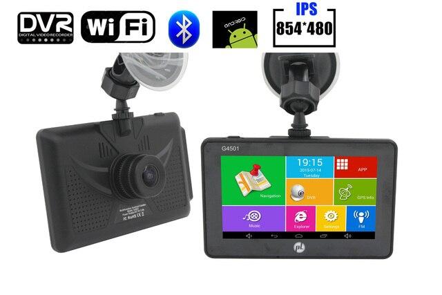 2016 Новый 4.5 дюймов GPS Навигации Android GPS Автомобильный видеорегистратор цифровой Видеорегистратор Quad Core CPU Полный HD1080P 170 Широкий угол