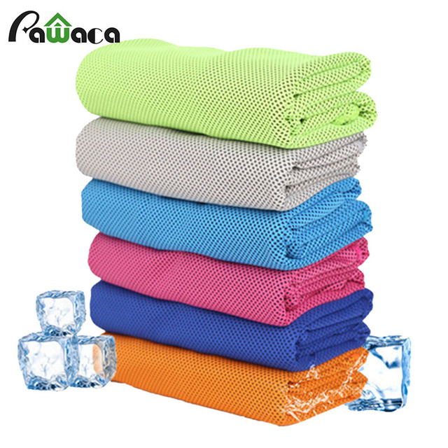 Pawaca 2018 New Cooling Sports Towel Microfiber Fabric Quick-Dry Ice Towels Running Gym Yoga Climbing Exercise Outdoor Towel