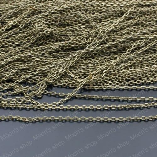 Wholesale width 1.5mm Antique Bronze Copper Link Chains Jewelry DIY Components 5 Meter(JM3930)