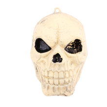 Halloween Head Skeleton Decoration Hanging Human Horror Scary Head Skull Decor Party Supplies Bar Decorative Props
