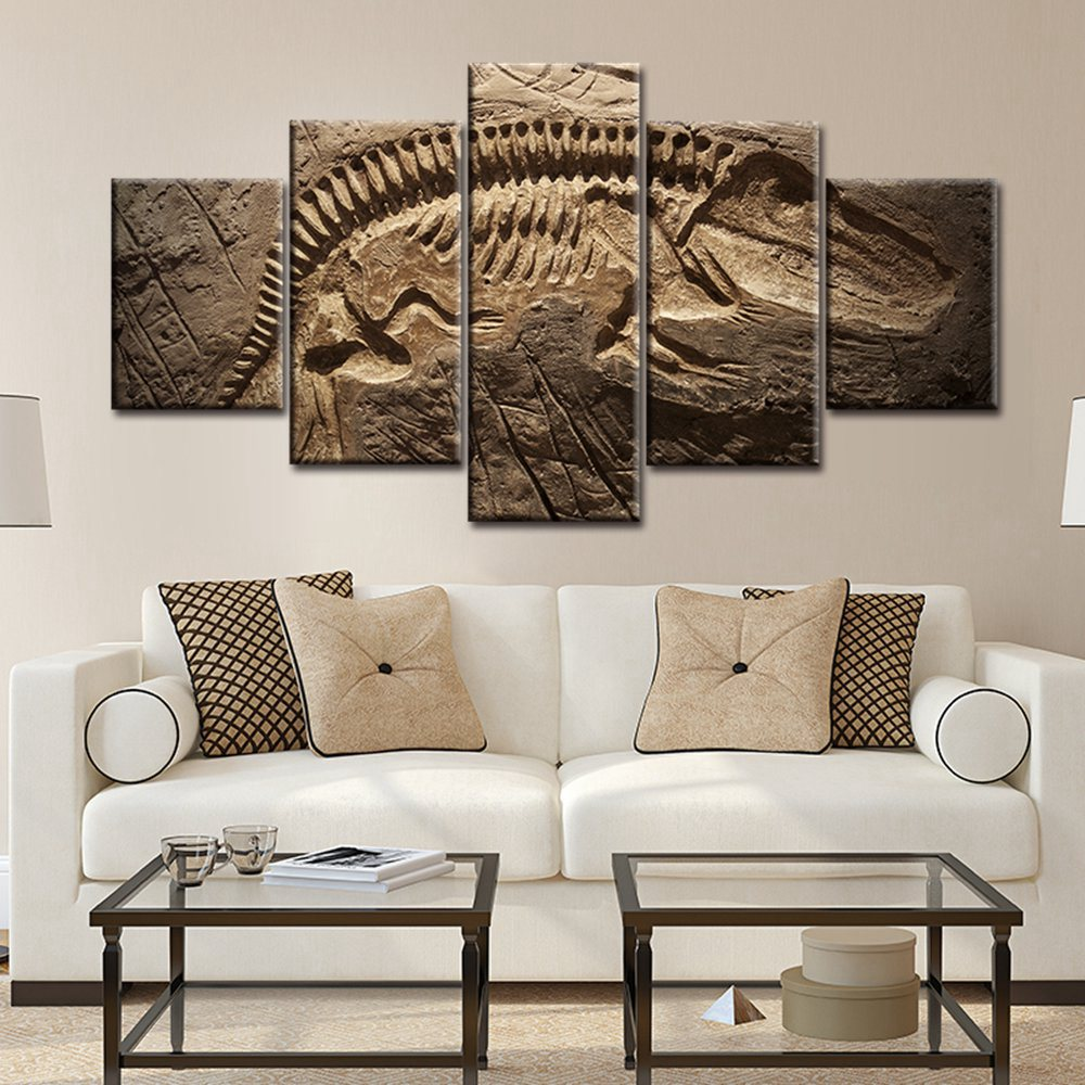 Large Picture Wall Art Living Room Decor Dinosaur Fossil Abstract Painting  For Home Decorative Giclee Artwork Printed Wholesale In Painting U0026  Calligraphy ...