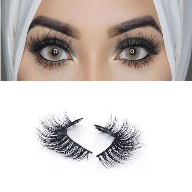 633f7671e23 Mink False Eyelashes 1 Box 1 Pair Packing Natural Long Crisscross Realistic Soft  Fake Eyelashes 100% Handmade Makeup Lashes