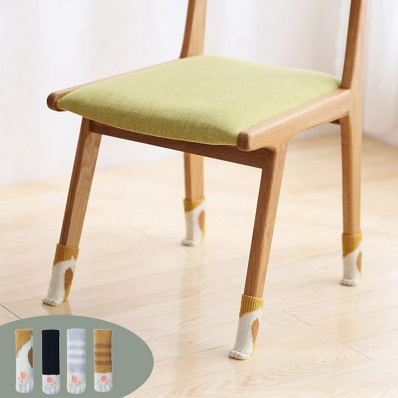 Well-Educated 4pcs Knitting Chair Leg Socks Protector Furniture Feet Sleeve Anti-slip Table Thicken Cover Floor Protection Furniture Parts