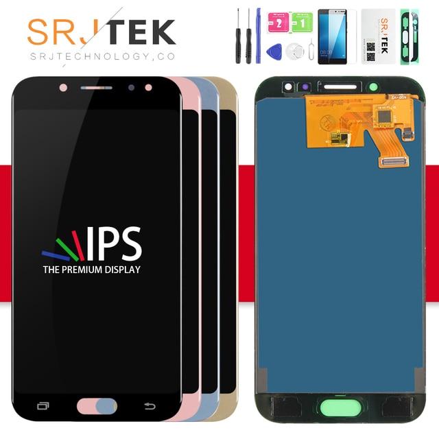 Srjtek TFT شاشة لسامسونج J530 LCD J5 2017 عرض J530F عرض ل غالاكسي J530 اللمس محول الأرقام زجاج الجمعية J5 2017 LCD