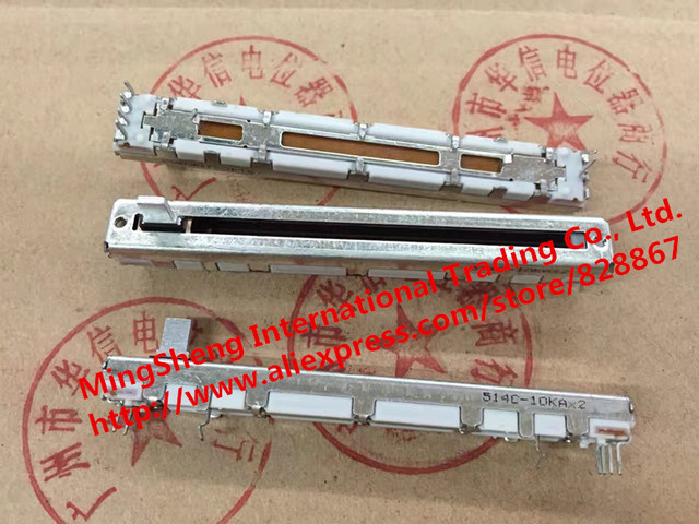 Original new 100% Japan imports 75MM double A10K 10KAX2 7MMC handle fader potentiometer (SWITCH)