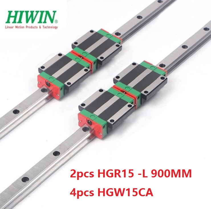 2pcs 100% original Hiwin linear rail HGR15 -L 900mm + 4pcs HGW15CA ( HGW15CC ) flange carriage block for cnc router 2pcs 100% original Hiwin linear rail HGR15 -L 900mm + 4pcs HGW15CA ( HGW15CC ) flange carriage block for cnc router