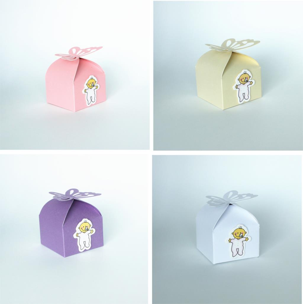 50pcs Baby Shower Favors Butteryfly Pattern Candy Boxes