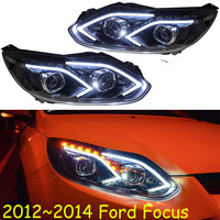 Video show Car Styling Head Lamp for Focus Headlight 2015 2012 2013 2014 year DRL Daytime Running Light Bi Xenon HID Accessories
