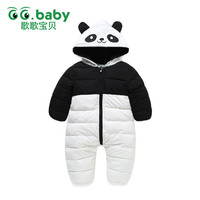 New Winter Newborn Panda Down Cotton Rompers Snow Outwear Baby Body Boys Romper Overalls Clothes Costumes