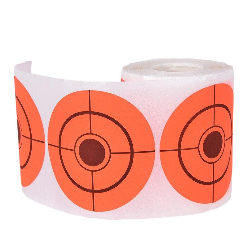 250 Targets Per Roll Diameter7.5cm Orange Target Stickers For Shooting