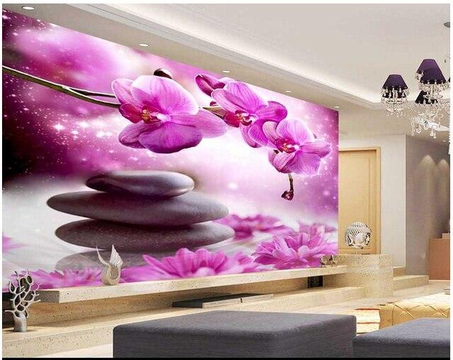 Personalizzato papel de parede floreale farfalla orchidea murales ...