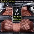 Esteras del Piso del coche para Infiniti G35 G25 Serie G V63 G37 Coupe CV36 Pie Alfombras Alfombras Personalizadas diseño de Coches Personalizados especialmente