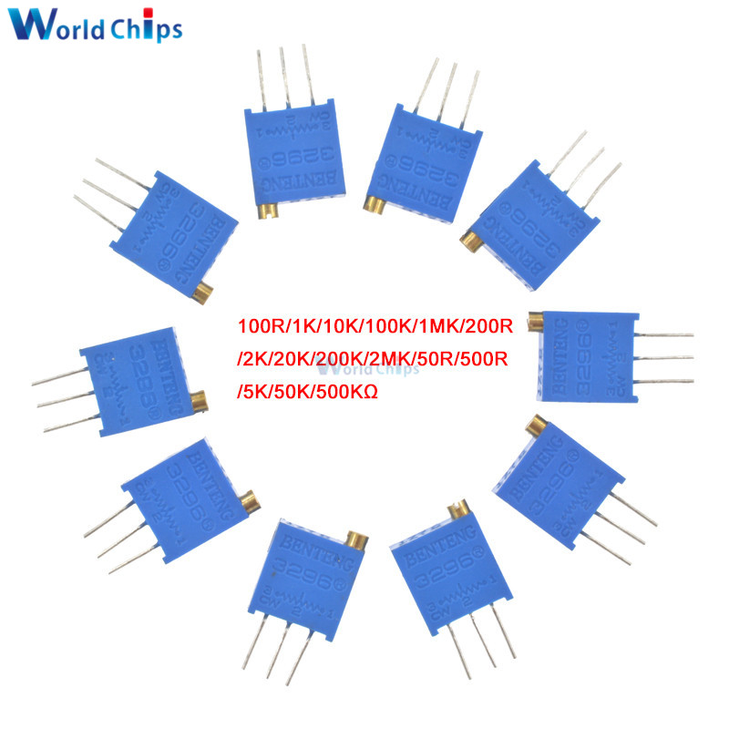 10pcs 3296W-103 3296 W 10K ohm Trim Pot Trimmer Potentiometer
