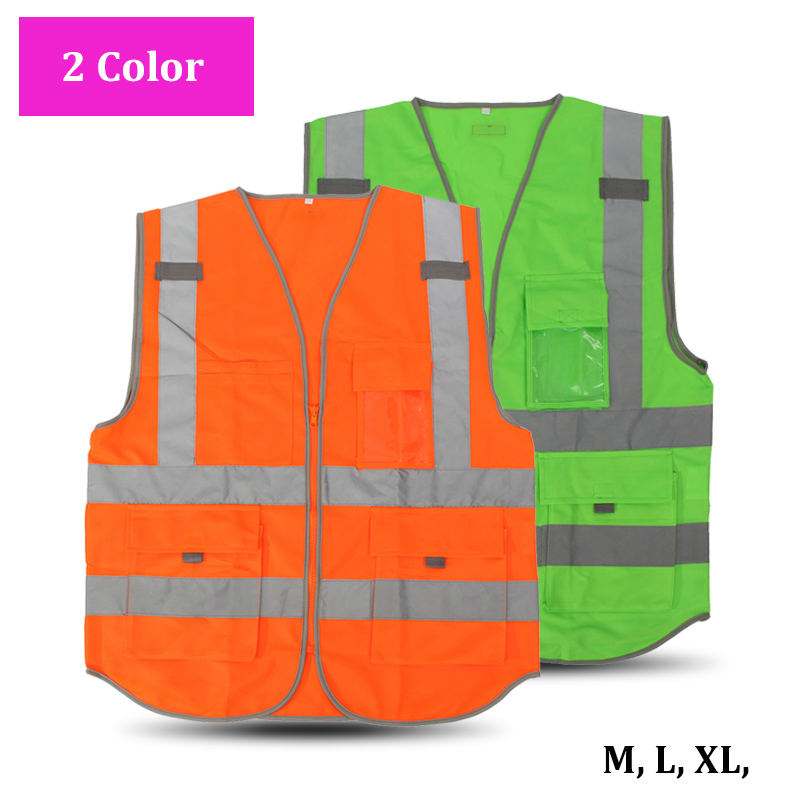 NEW High Visibility Safety Reflective Vest Working Clothes for Outdoor Night Work Security Traffic Cycling