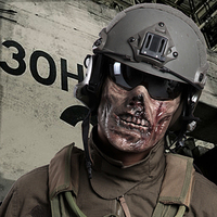 Zombie Skeleton Skull Half Face Tactical Airsoft Wargame Ghost Mask Cosplay