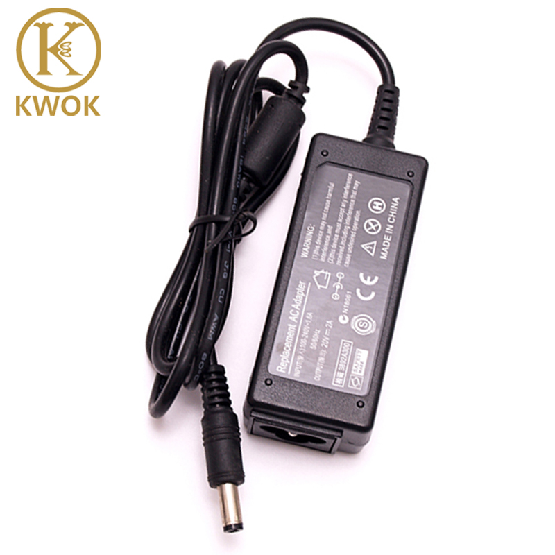 20 V 2A 40 W Voeding voor Laptop Adapter Laptop Oplader Voor Lenovo IdeaPad S9 S10 M9 M10 U260 U310 Power Adapter Notebook